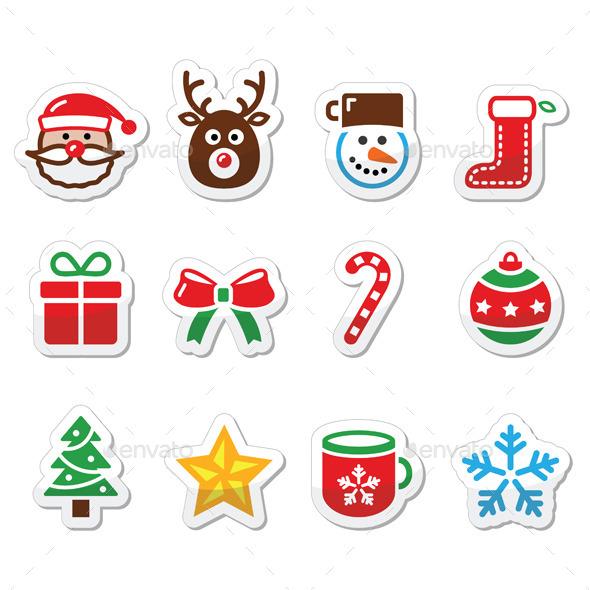 Christmas Colorful Icons Set  - Christmas Seasons/Holidays