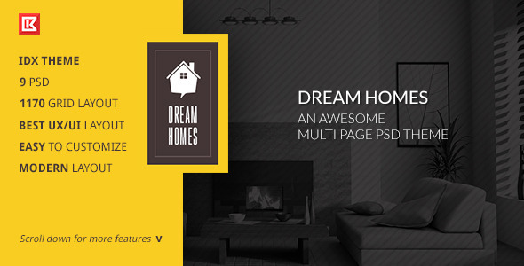 Dream Home-An Awesome IDX Psd Theme - Business Corporate