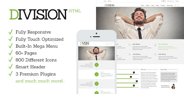 Division – Responsive HTML Multi-Purpose Theme