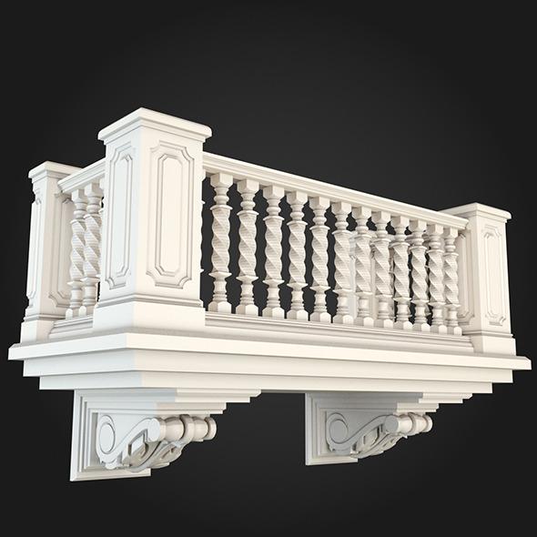 Balcony 010 - 3DOcean Item for Sale