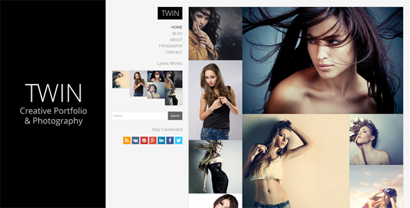 Twin - Creative Portfolio and Photography - Creative WordPress
