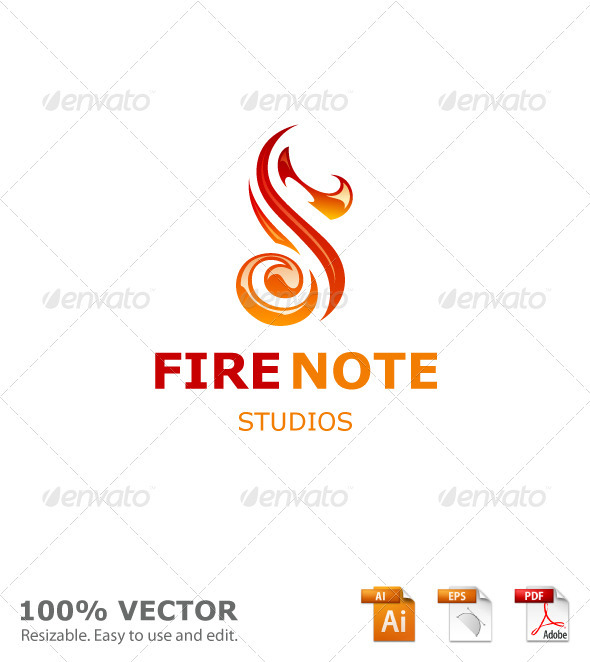 Fire Note Studios - Letters Logo Templates