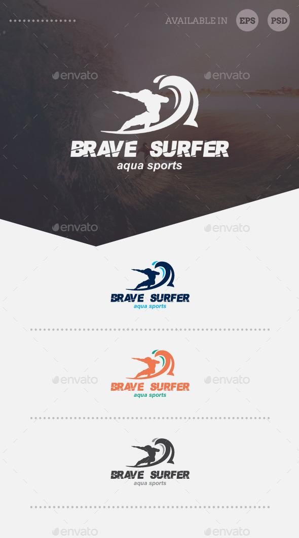 Brave Surfer Logo Template - Humans Logo Templates