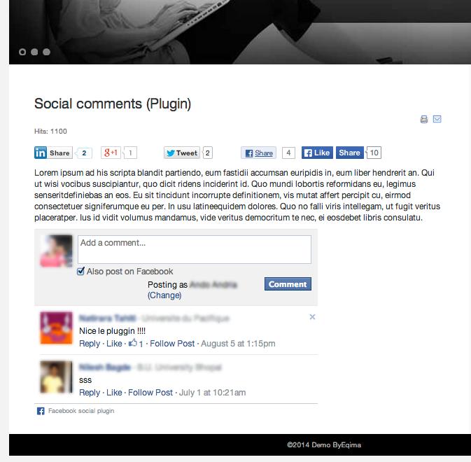 EQ Social Comments