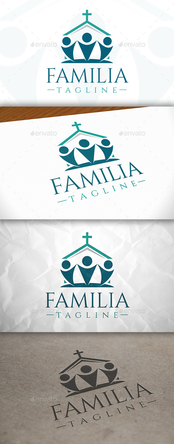 Church Family Logo - Buildings Logo Templates