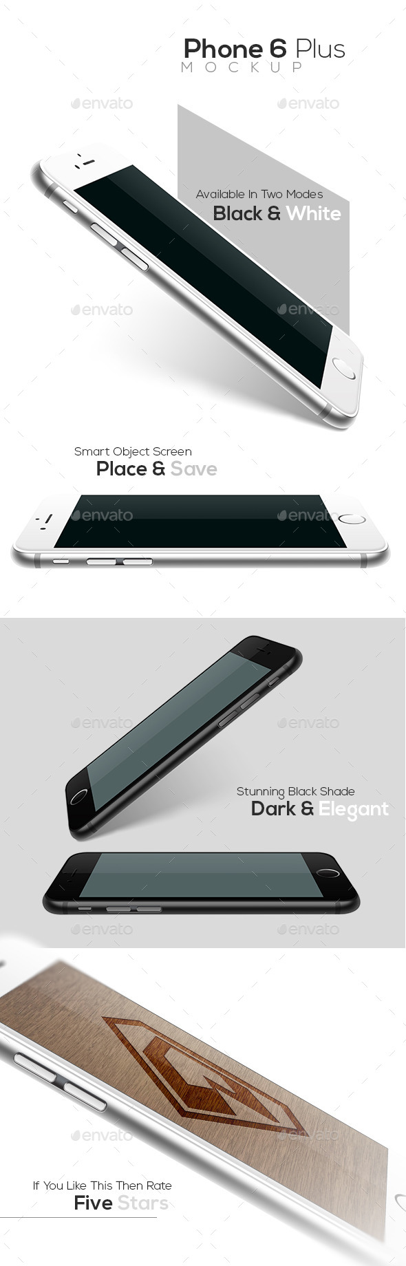 Phone 6 Plus Realistic Mockup - Miscellaneous Print