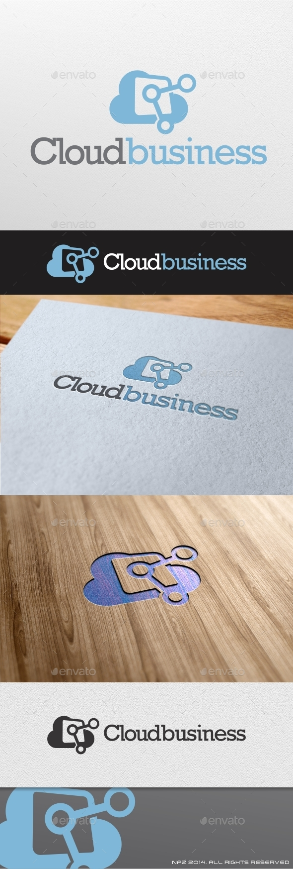 Cloud Business Logo - Objects Logo Templates