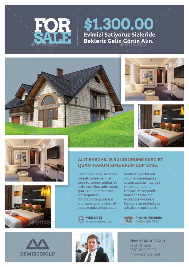 Real Estate Flyer Templates By Grafilker02 Graphicriver