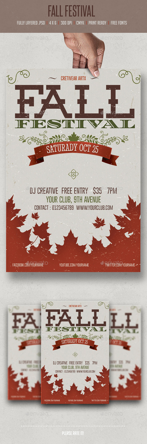 Fall Festival - Flyers Print Templates