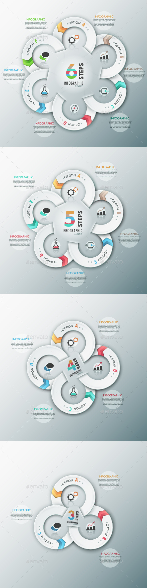Modern Infographic Options Template (4 Items) - Infographics