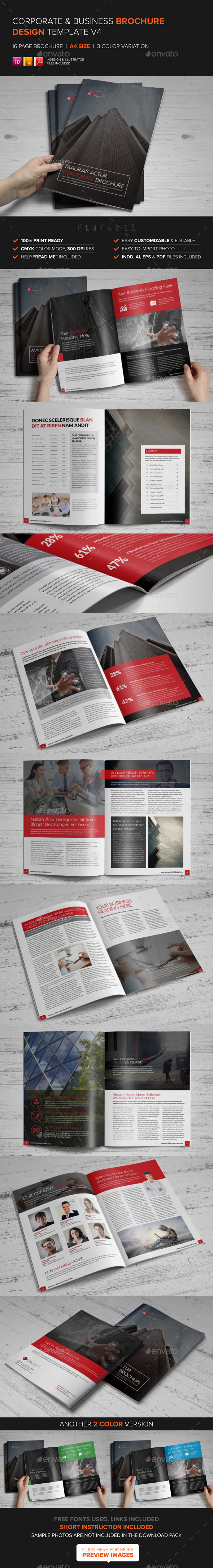 Corporate Multipurpose Brochure Template v4 - Corporate Brochures