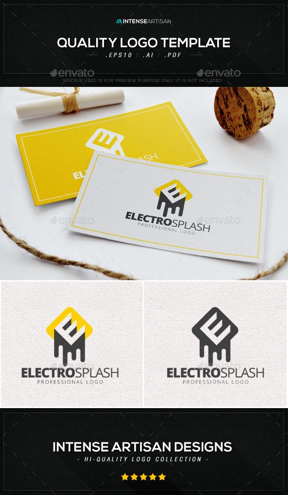 Electro Splash Logo Template - Letters Logo Templates