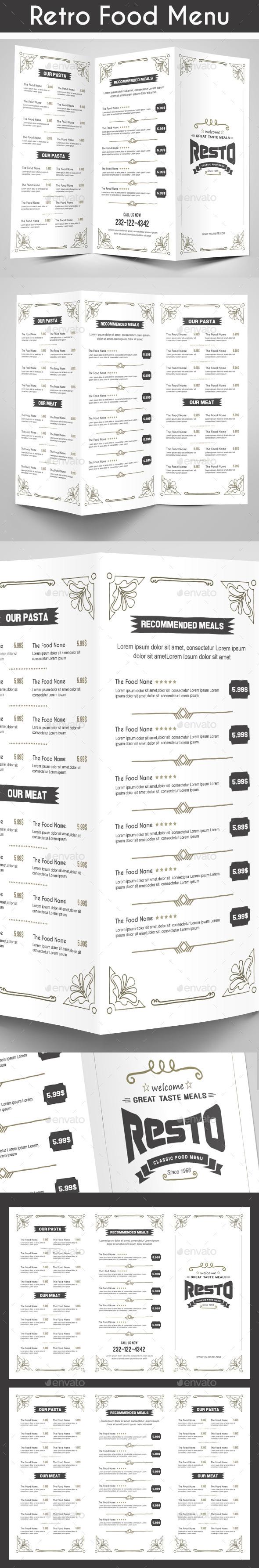 Retro Food Menu - Food Menus Print Templates