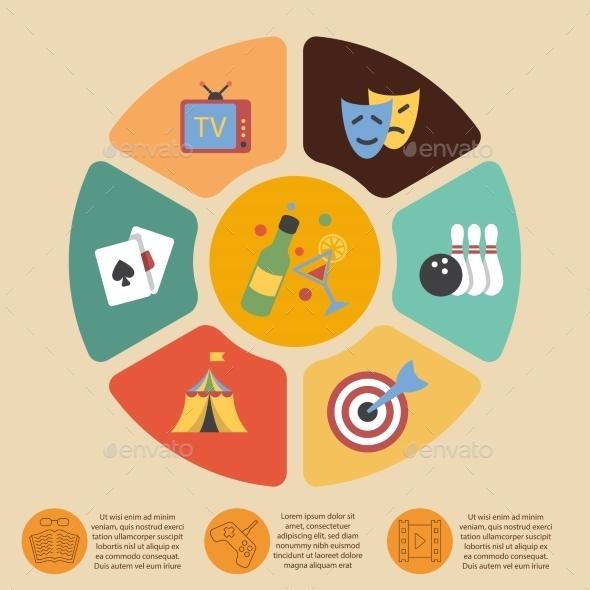 Entertainments Infographics Set - Web Technology