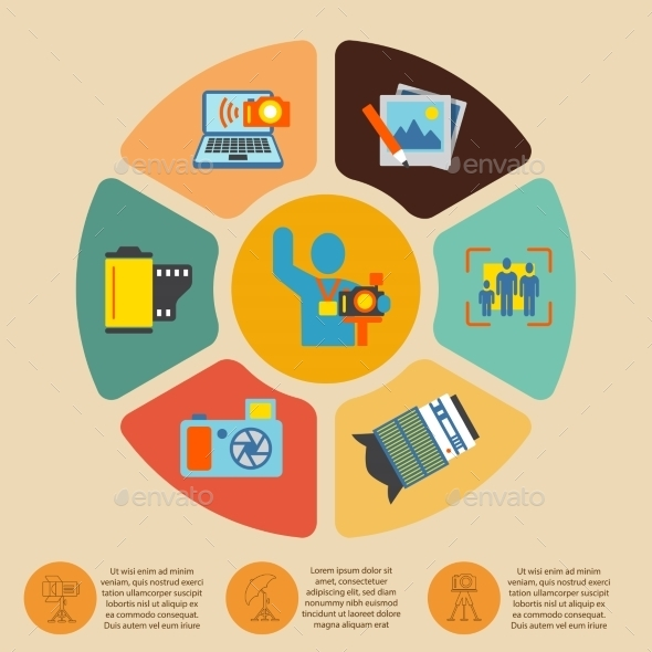 Photography Infographics Set - Web Technology