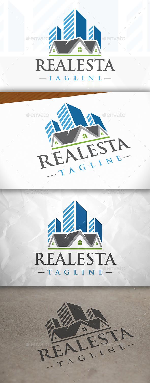 City Real Estate Logo - Buildings Logo Templates