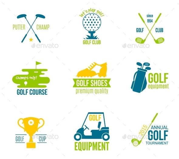 Golf Label Set - Sports/Activity Conceptual