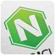 Neon Cube Logo Template