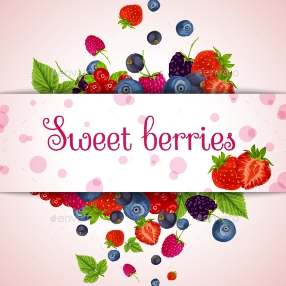 Fresh Berries Card - Backgrounds Decorative