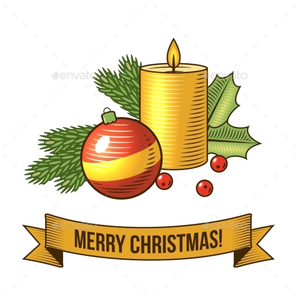 Christmas Candle Icon - Christmas Seasons/Holidays