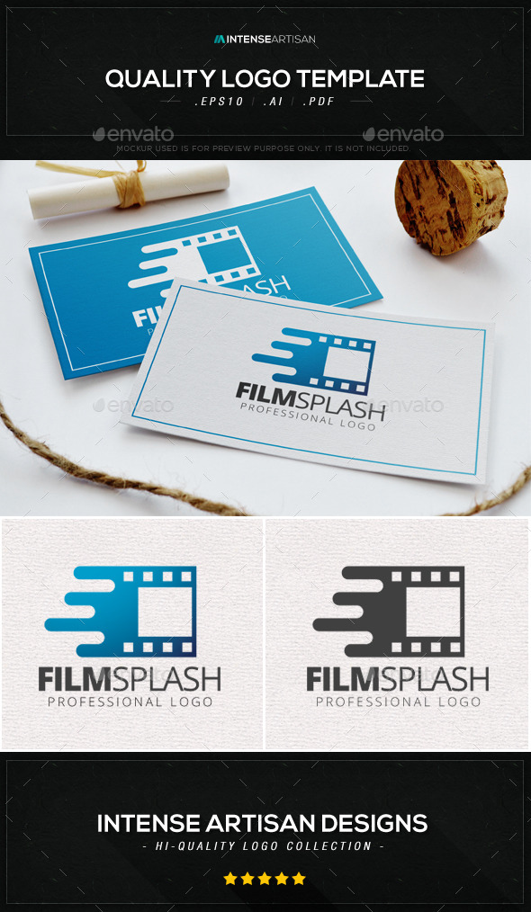 Film Splash Logo Template - Objects Logo Templates