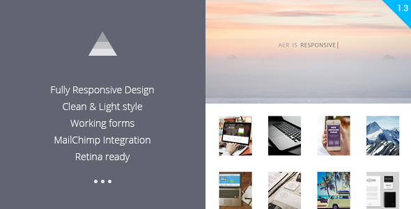 Aer – Clean HTML5 Template