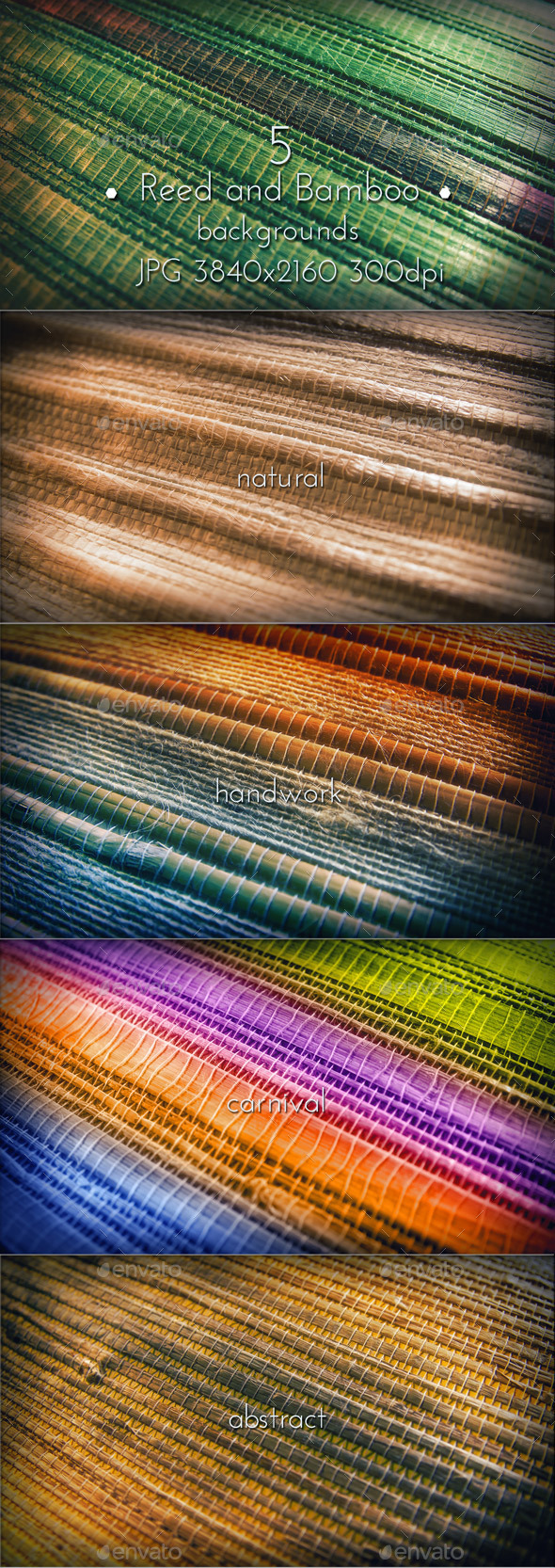 Bamboo and Reed Natural Collection - Nature Backgrounds