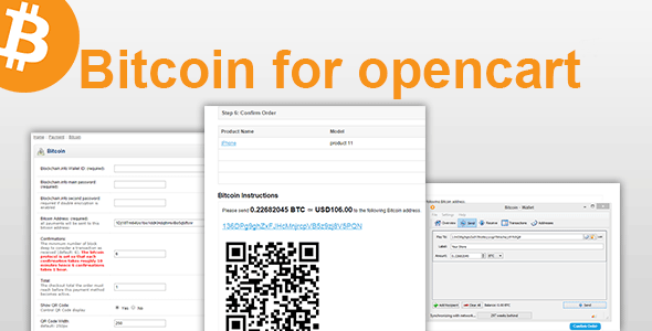 Bitcoin for Opencart - CodeCanyon Item for Sale