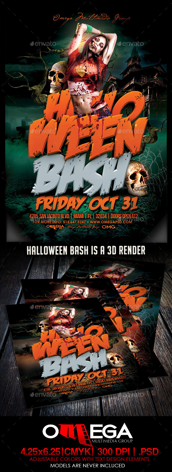 Halloween Bash - Flyers Print Templates