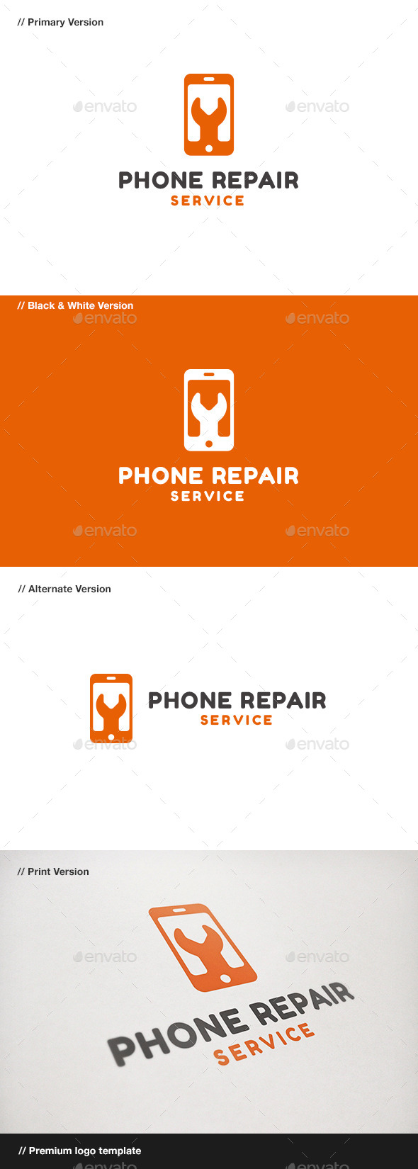 Phone Repair - Objects Logo Templates