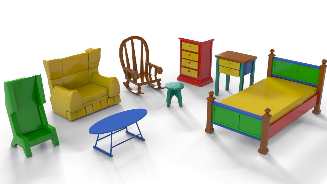 Cartoon furniture by teddpermana 3docean - Furniture image ...