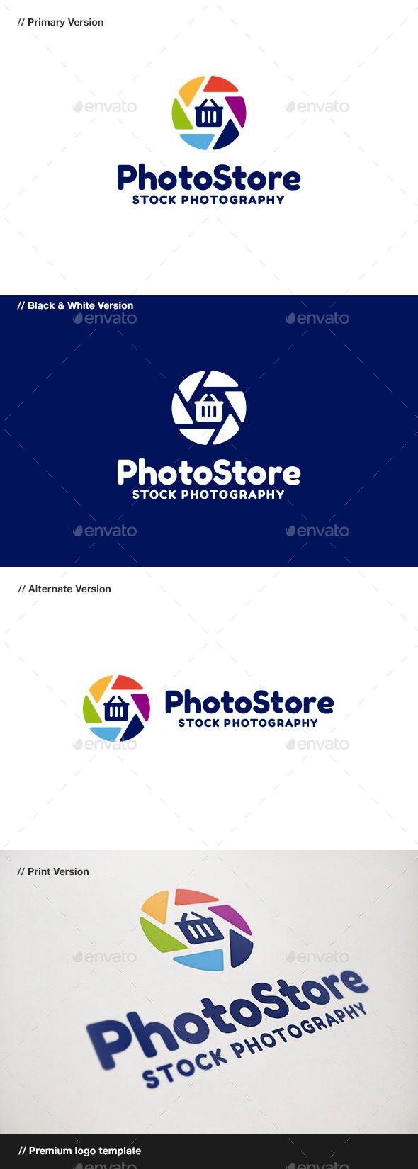 Photo Store - Abstract Logo Templates