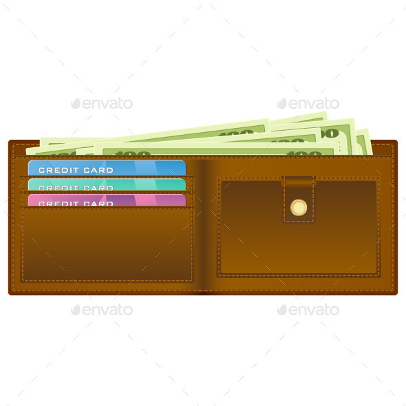 Wallet with Money - Business Conceptual
