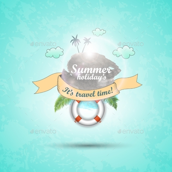 Abstract Summer Background Vector Cartoon - Flowers & Plants Nature