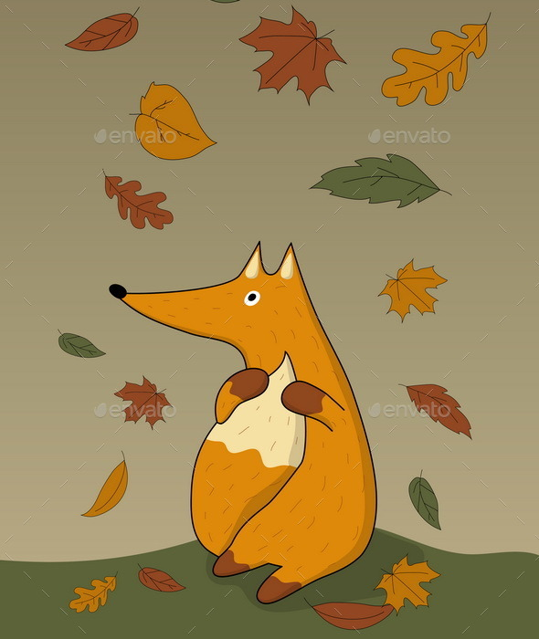 Autumn Fox - Animals Characters