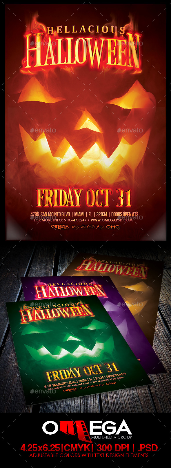 Hellaciuos Halloween - Flyers Print Templates