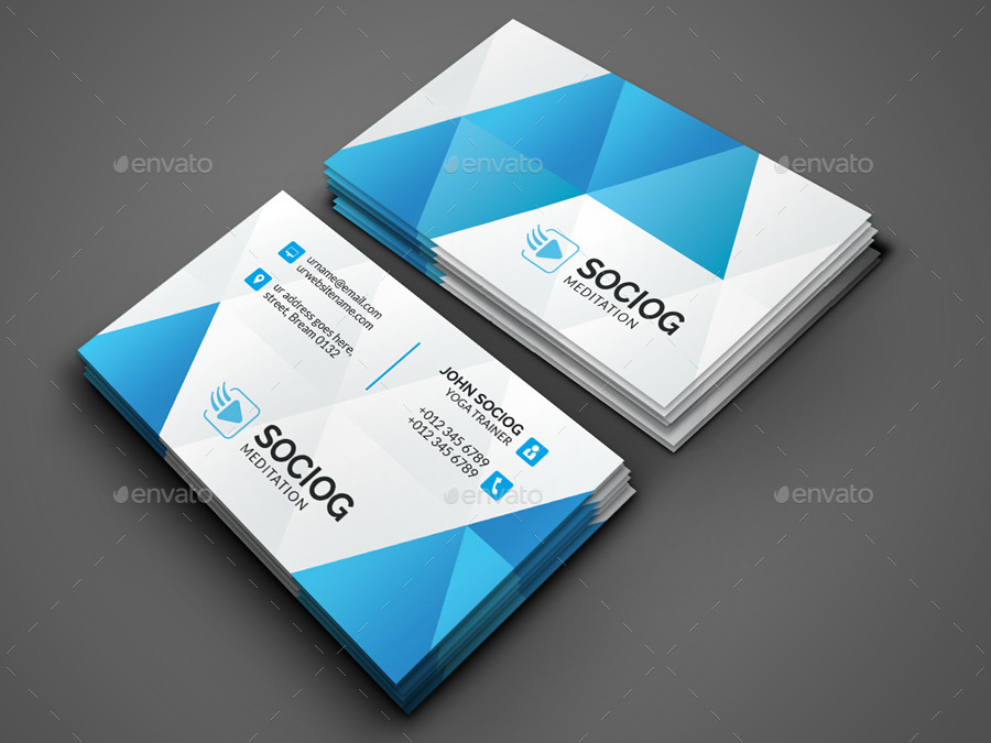 Meditation Business Card by -axnorpix | GraphicRiver