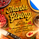 Rustic Thanksgiving Dinner Flyer Template