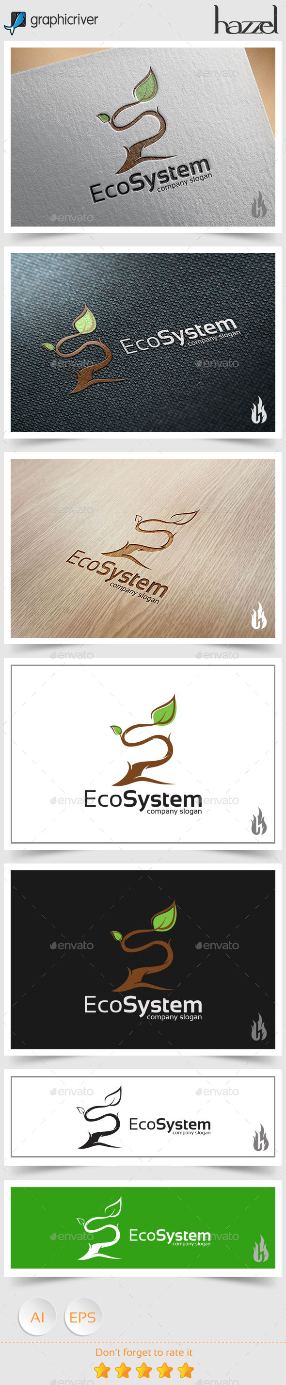 Eco System - Letter S Logo - Nature Logo Templates