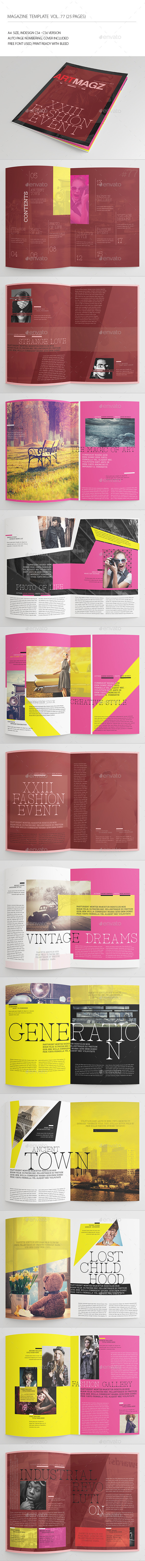 25 Pages Creative Magazine Vol77 - Magazines Print Templates