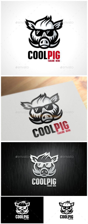 Cool Pig Logo Template - Animals Logo Templates