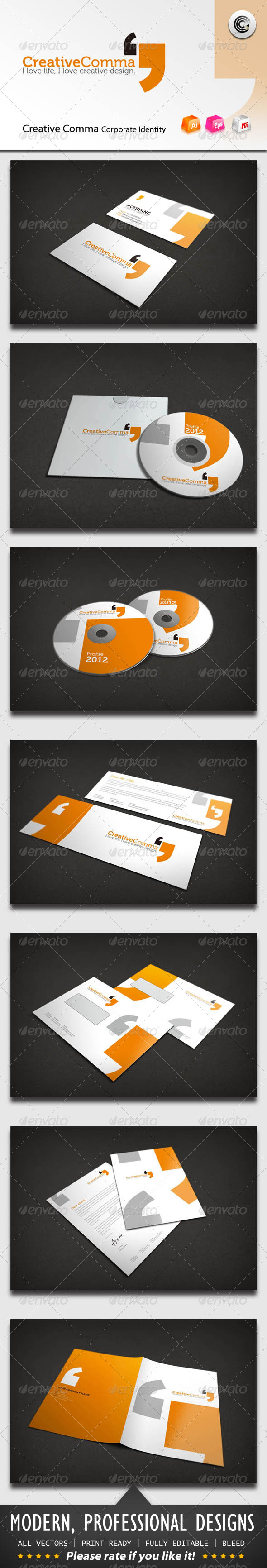 Creative Comma Corporate Identity - Stationery Print Templates