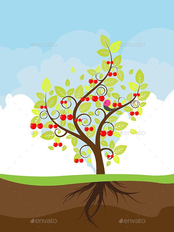 Stylized Cherry Tree - Landscapes Nature