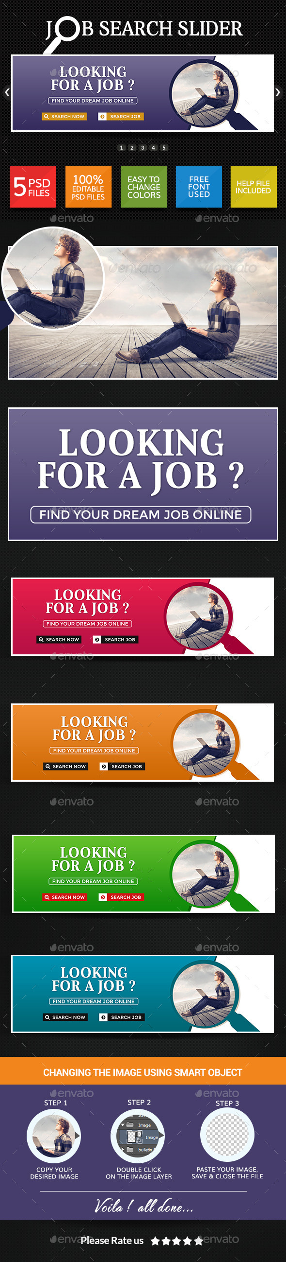 Job Search Sliders - Sliders & Features Web Elements