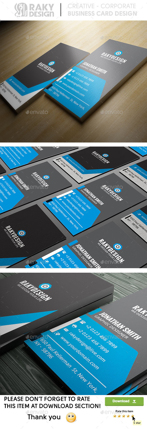 Blue Corporate Business Card - Corporate Business Cards