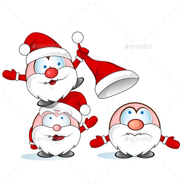 Santa Claus Cartoon  - Christmas Seasons/Holidays