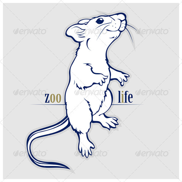Cartoon Rat or Mouse - Animals Characters