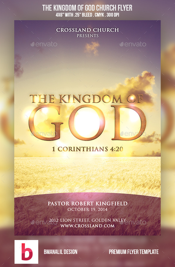 The Kingdom of God Church Flyer - Church Flyers