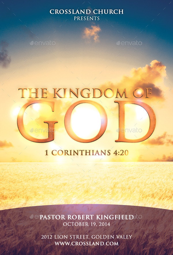 the kingdom of god church flyer by bmanalil