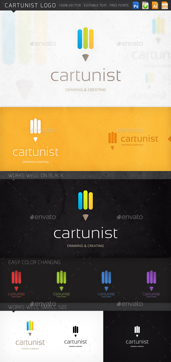 Cartunist Pencil Logo Template - Objects Logo Templates
